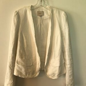 Loft 100% Soft Linen Jacket Cotten Lined - S